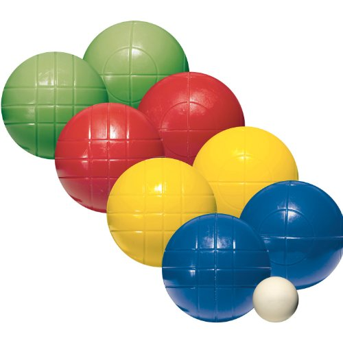 Franklin Sports Bocce Sets - Regulation Bocce Balls and Pallino - Beach and Lawn Bocce Set for Kids and Adults - Intermediate , 100mm