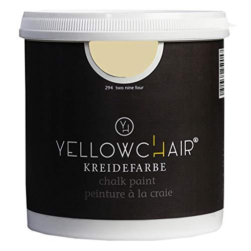 Kreidefarbe yellowchair 1 Liter ÖKO für Wände und Möbel Shabby Chic Vintage Look (No. 294 pastellgelb)