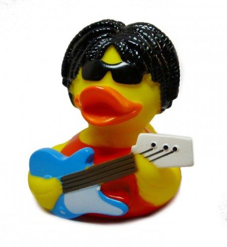 Badeente mit Gitarre Gitarrist Quietscheente