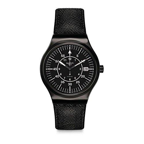 Swatch Reloj Analogico para Hombre de Automático con Correa en Cuero YIB400