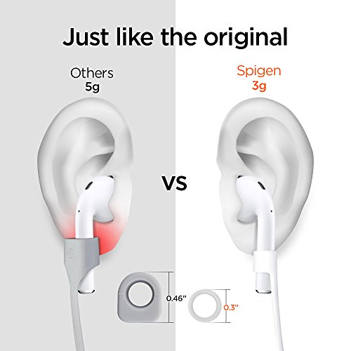 Spigen RA100 Designed for AirPods Strap for Apple Airpods 1 & 2 [NOT Compatible with Airpods Pro] - White