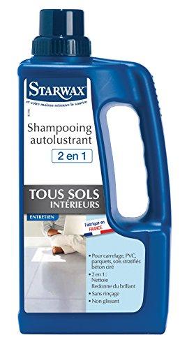 STARWAX Shampooing Autolustrant pour Sols Intérieurs - - Idéal pour Nettoyer et Raviver la Brillance des Sols Intérieurs - 1L
