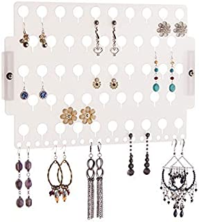 Angelynn's Stud Earring Holder Organizer Wall Mount Hanging Closet Jewelry Storage Rack for Women Girls Teen, Frosted