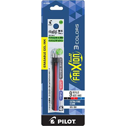 Pilot Recambios para FriXion Clicker 3 multifunción borrable, punta extrafina, colores surtidos, 9 unidades (13864)