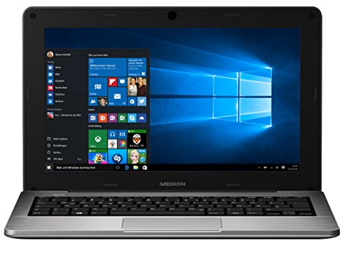MEDION AKOYA S2218 MD 99590 29,5cm (11,6 Zoll HD Display) Notebook (Intel Atom Z3735F, 2GB RAM, 64GB Flash-Speicher, Intel HD-Grafik, Win 10) silber