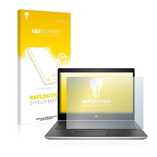 upscreen Entspiegelungs-Schutzfolie kompatibel mit HP ProBook x360 440 G1 (eine Kamera) – Anti-Reflex Bildschirmschutz-Folie Matt
