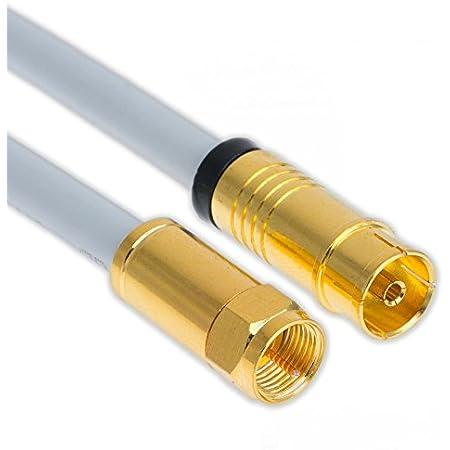 5 M Coaxial Satellite Antenna Cable 135 Db Copper Elektronik