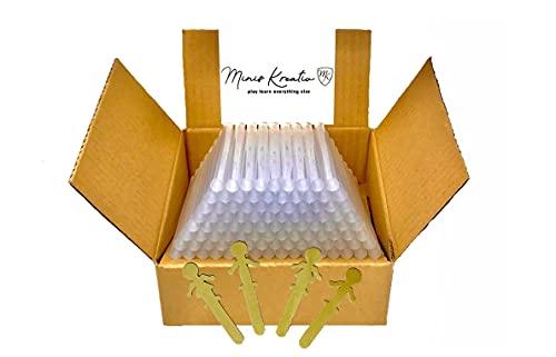 Bastoncini di colla a caldo, 11 mm, trasparenti, 2 kg, 100 pezzi, 11 mm, qualità industriale, diametro di 11 x 200 mm, prodotti in Germania, con decorazioni in omaggio, cartucce adesive da 11 mm