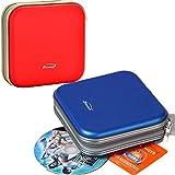 Tangger Portátil Bolsa de CD/DVD Estuche para 80 CDs,Estuche Porta CD DVD BLU-Rays,Portafolios para Guardar CD,Porta CD Disco Almacenamiento DVD Bolsas Funda Protectora de Organizador de Plástico