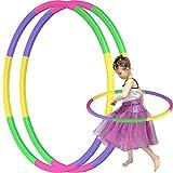 Hula Hoops Kids - Aro de hula hoop para niños, desmontable, con peso, tamaño ajustable, diseño de mariposa, gimnasia, equipo de agilidad para perros, decoración de Navidad