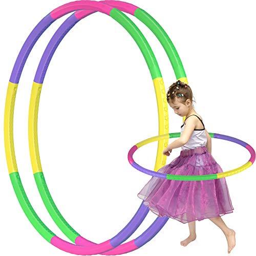 KKLOVEU Hoola Hoop Reifen Kinder, 2 Pack 8 Abschnitte Hoola Hoop Kinder für Kinder Größenverstellbares Stern Stil Design Hoola Hoop Reifen, Agility-Ausrüstung für Hunde, Geeignet für Fitness Yoga
