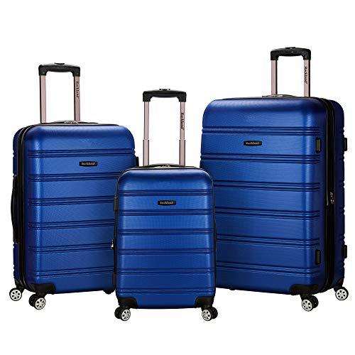 Rockland Melbourne Hardside Expandable Spinner Wheel Luggage, Blue, 3-Piece Set (20/24/28)