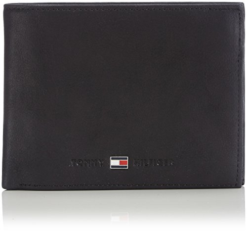 Tommy Hilfiger JOHNSON CC FLAP AND COIN POCKET AM0AM00660 Herren Geldbörsen 13x10x2 cm (B x H x T), Schwarz (BLACK 002)