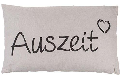 Bada Bing Kissen Dekokissen Auszeit Creme Schriftzug Hochwertig Geschenk Parntergeschenk Trend 68
