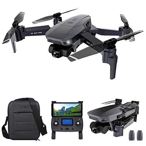 GoolRC SG907 Pro GPS RC Drone con Cámara 4K 2 Ejes Gimbal 5G WiFi FPV Posicionamiento de Flujo óptico Quadcopter Punto de Interés Waypoint Vuelo 800m Distancia de Control con Bolsas 2 Baterías