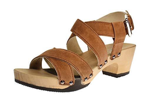 Softclox S3514 Kairi Nature Nappa - Damen Schuhe Sandaletten - 02-Cognac, Größe:41 EU