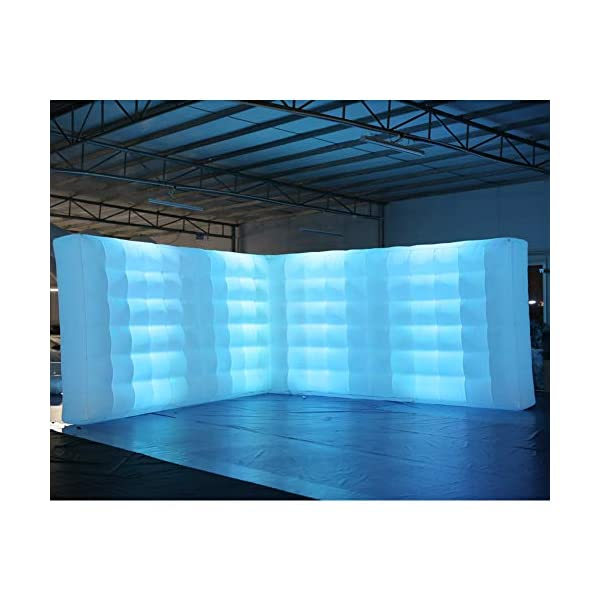 SAYOK Inflatable Wall Structure White Walled Space Office Room Inflatable L Shaped Wall Tent for Conferences…