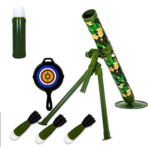 Kids Tactical Toys Bundle, Rocket Und Sound Und Light Toy Mörser Toy Tactical Mortar Mit Launch Sponge Safety Missile, Interessantes Schießspielzeug, Geschenk Für Kinder, Missile Military Model