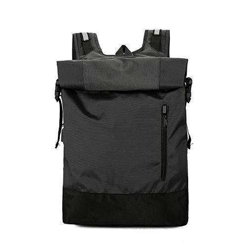 Mochila RollTop para hombre y mujer, mochila escolar, para universidad, bicicleta, ocio, deporte, viajes, lluvia, mochila elegante, con compartimento para portátil de 15.6' Negro Negro