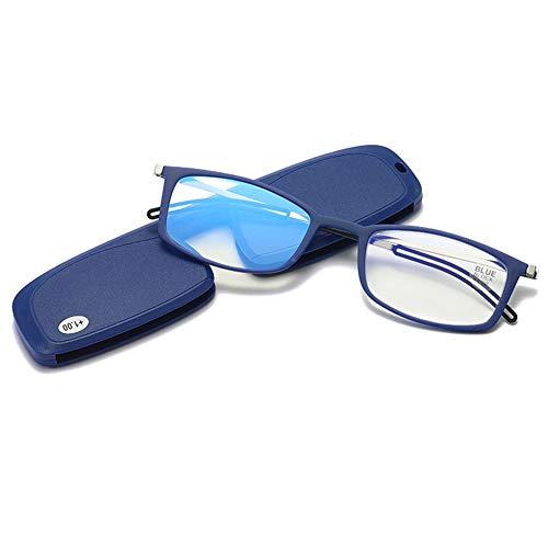 CYY Gafas de Lectura Unisex Delgados y Ultraligera con Bloqueo de Luz Azul,2.0D Lectores Antifatiga con Estuche Portátil,para Gaming Computadora Móvil