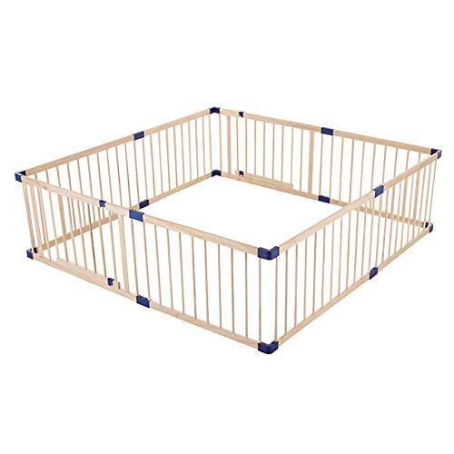 Laufgitter Extra Large 200x250cm Holzschutzzaun - Baby-Laufstall/Wiedergabe Yard mit Begehbarem-Through-Tür für Haustiere und Kleinkind, 62cm Hoch (Size : 200x250cm(79x98 inch))