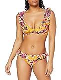 Iris & Lilly Am10am11 Conjunto de Bikini, Amarillo (Mustard Big Tropical), 40