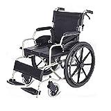 Passeggino Pieghevole in Alluminio Ultraleggero per Sedia a rotelle con Freni per Assistente Schienale Pieghevole Ausili per la Mobilità