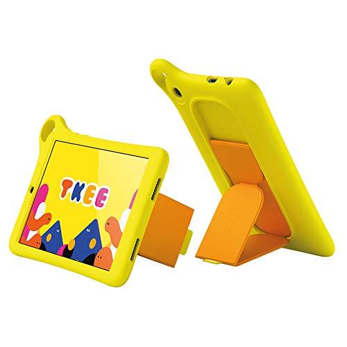 Alcatel MID Kids Tablet 8 Zoll Touch Farbdisplay Kidomi Plattform mit Vielfalt aus Lernspielen Buchern und Videos Robustes Design sichere Umgebung fur Kinder LTE GPS Funktion Yellow