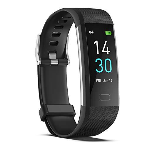 ENGERWALL Smartwatch Cronometro,Fitness Tracker Donna Uomo Pressione Sanguigna /Cardiofrequenzimetro /Saturimetro /Temperatura /Sonno Tracker,IP68,Contapassi/Calorie,Notifiche Messaggi,per Android iOS