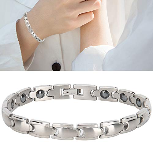 Magnetic Bracelet, Stainless Steel Magnetic Therapy Bracelet Stylish Design for Health Care Arthritis Pain Relief Bracelets Gift for Women Men