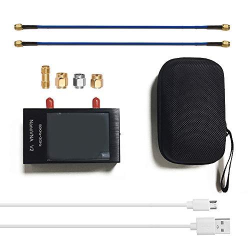 KKmoon NanoVNA V2-Antennenanalysator 2,8-Zoll-Touchscreen 50 kHz-3 GHz Vektor-Netzwerkanalysator SAA-2 Kurzwellen HF UKW UHF Gehäuse aus Aluminiumlegierung mit Akku