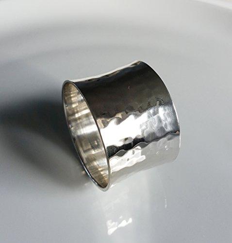 Sander Serviettenring Arigato aus Metall 5cm Ø gehämmerte Optik