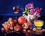 JRGGPO Fruta en la Mesa 5D Kit de Pintura de Diamante para Manualidades Niños Adulto Regalo Mosaico...