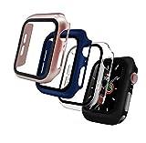Iuveruln 4 pezzi Cover Apple Watch Series 6/SE/5/4, Custodia Protettore Schermo per iwatch...