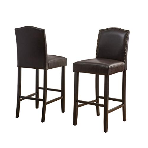 Christopher Knight Home Markson Barstools, 2-Pcs Set, Brown