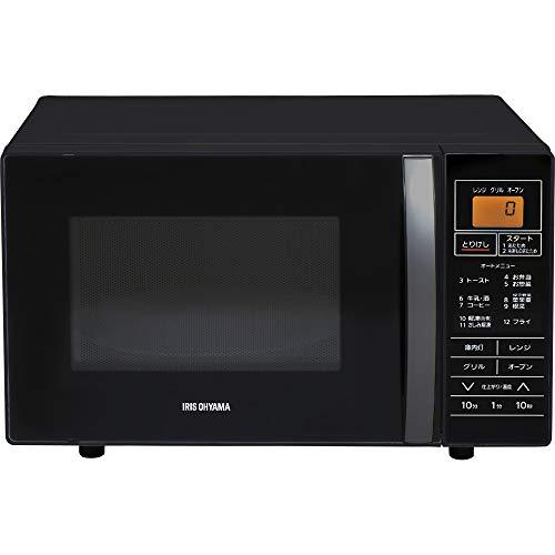 アイリスオーヤマ オーブンレンジ 16L ターンテーブル ブラック MO-T1602