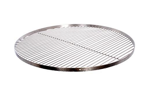 Grillrost Ø 60 cm mit Reling 20 mm 4 mm Edelstahl für Schwenkgrill BBQ Dreibein