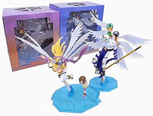 2 Zimmer 25 cm Digimon Abenteuer Digital Monster Takaishi Takeru und Angemon/Yagami Hikari und Angewomon PVC Abbildung Sammlung Modell Spielzeug
