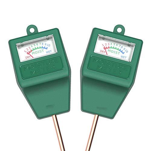 Nrpfell 2 Pack Boden Feuchtigkeits Messer Hygrometer Feuchtigkeits Sensor Meter für Garten, Bauernhof, Rasen Pflanzen Indoor & u?En (Keine Batterie Ben?Tigt)