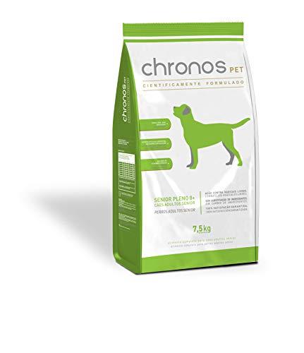 Ração Chronos Pet Cães Super Premium Senior Pleno 8+ 3kg Chronos Raça Idosos, Sabor Frango