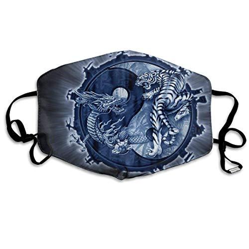 Mode Anti-Verschmutzungs-Maske Drache Yin Yang Symbol Staub Gesichtsmasken Wiederverwendbar