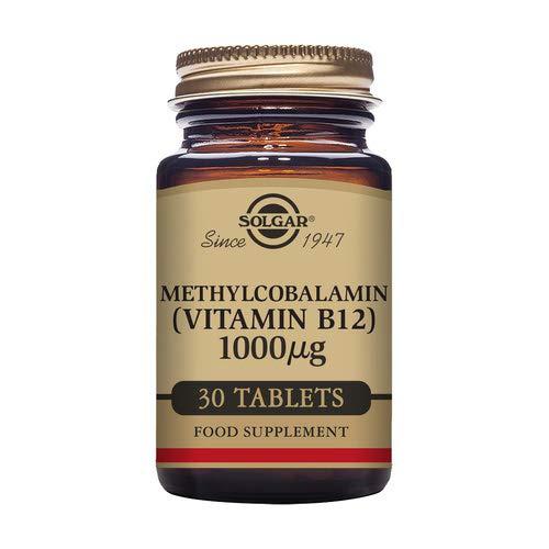 Vitamina B12 1.000 µg.30 comprimidos masticables - ENERGÍA - Solgar