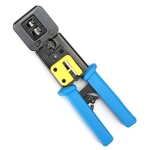 Herramienta de crimpado de red profesional EZ Pass a través de Ethernet Tenaza de crimpar de alta resistencia con trinquete para conectores de Internet heredados