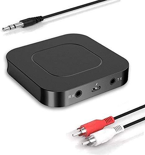 LENUMB 2 en 1 Transmisor y Receptor Bluetooth, Adaptador Universal de Audio con Baja Latencia, Adaptador RCA Jack 3,5 mm Adecuado para...