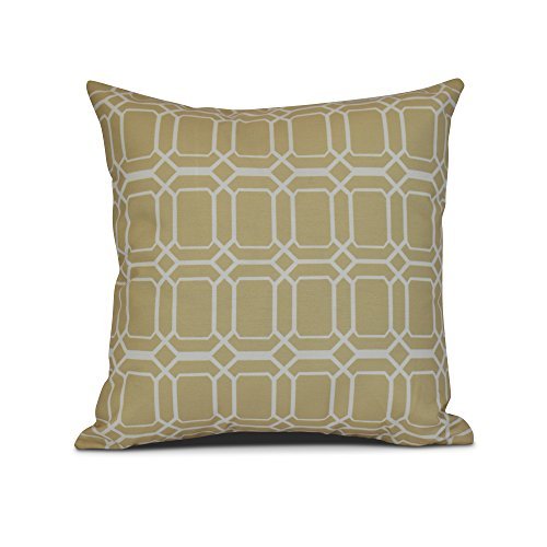 E by design Decorative Pillow Taupe Off White