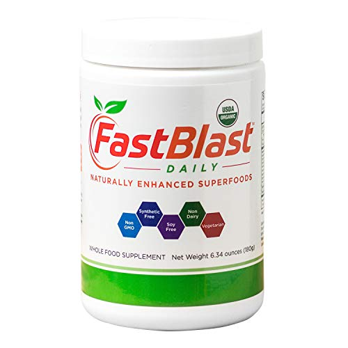FastBlast Daily Essentials   Fermented Organic Superfood Powder for Health & Vitality   Supports Brain, Heart, Immune, Digestive Systems