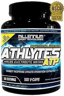 Millennium Sport Technologies, Athlytes ATP, Athletes, Electrolytes, Krebs Cycle Intermediates, 100 Vegetarian Caps, BSCG Certified Drug Free