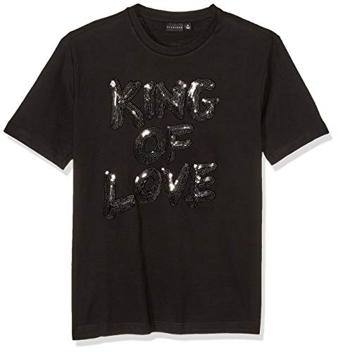 Sean John Men's King of Love Short Sleeve Crew Neck Tee, Jet Black, M
