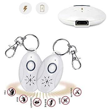 Dr. Li Anti-Moustique ultrasonique portatif, prévention des puces extérieure de rejet de répulsif Anti-Moustique ultrasonique de Puce Anti-tiques pour des Chats, des Chiens chargés par USB (1 PCS)