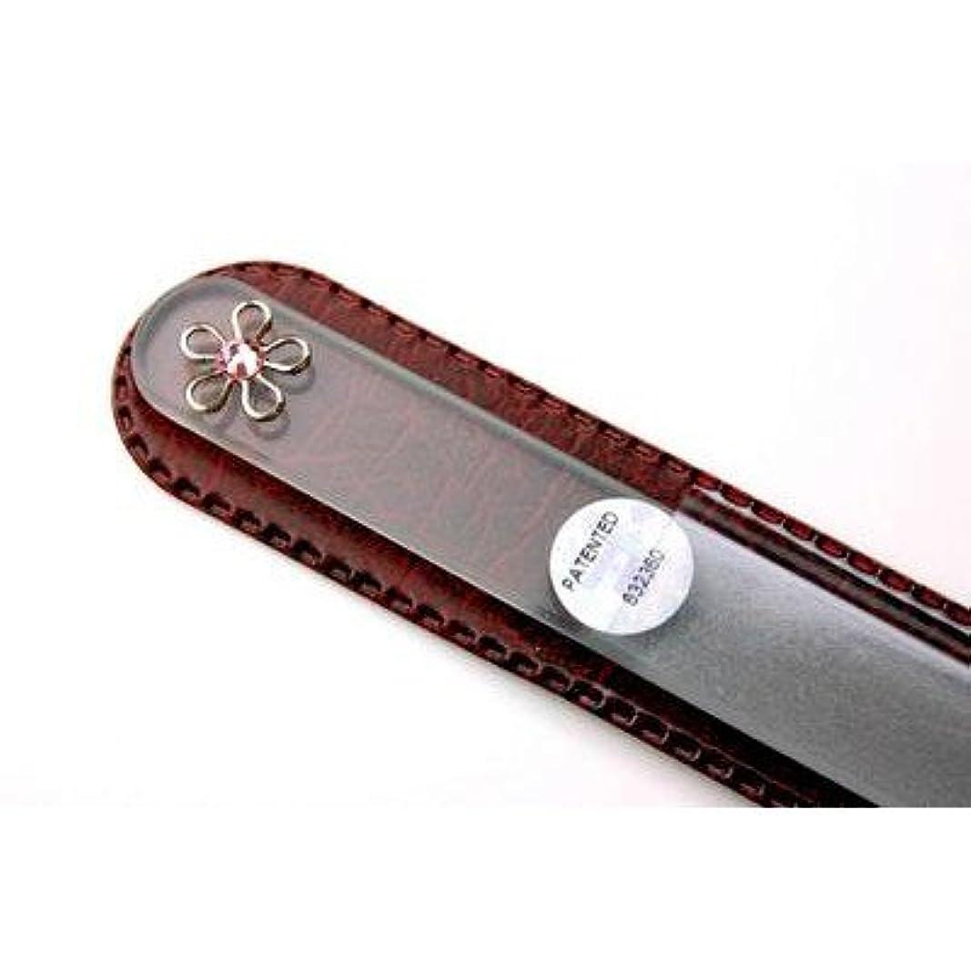 スタック無駄な感情の【ブラジェク】ガラス爪やすり  ネイルアクセサリー銀色(FP-33-R)